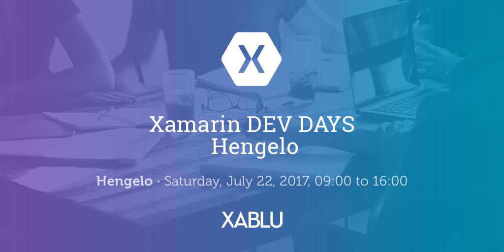 Xamarin Dev Days Hengelo