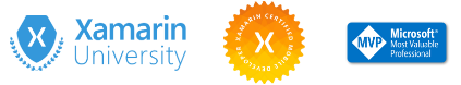 Xamarin certification badges and Microsoft MVP